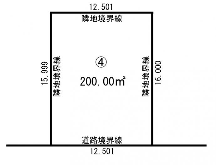西22南1モデル 地積図